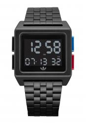 Adidas Archive All Black / Blue / Red wrist watch