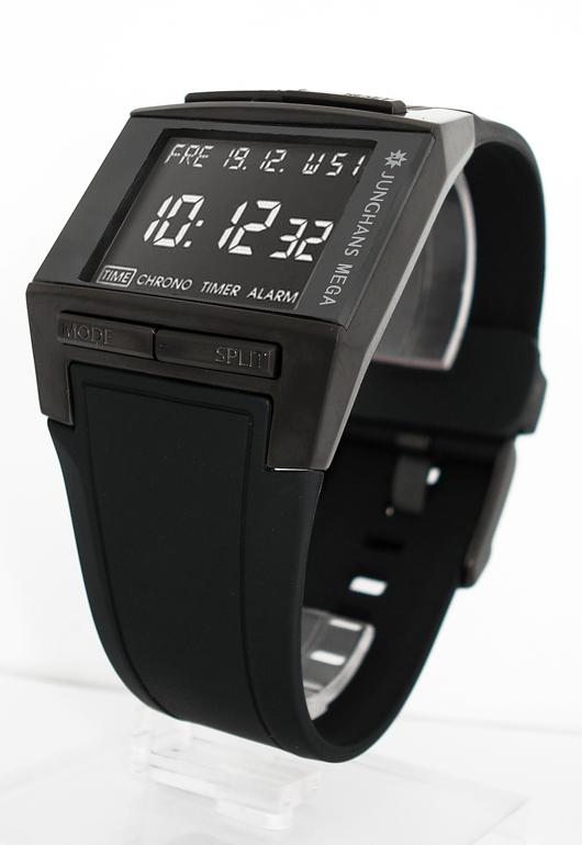 junghans mega 1000 men s radio controlled watch nur. Black Bedroom Furniture Sets. Home Design Ideas