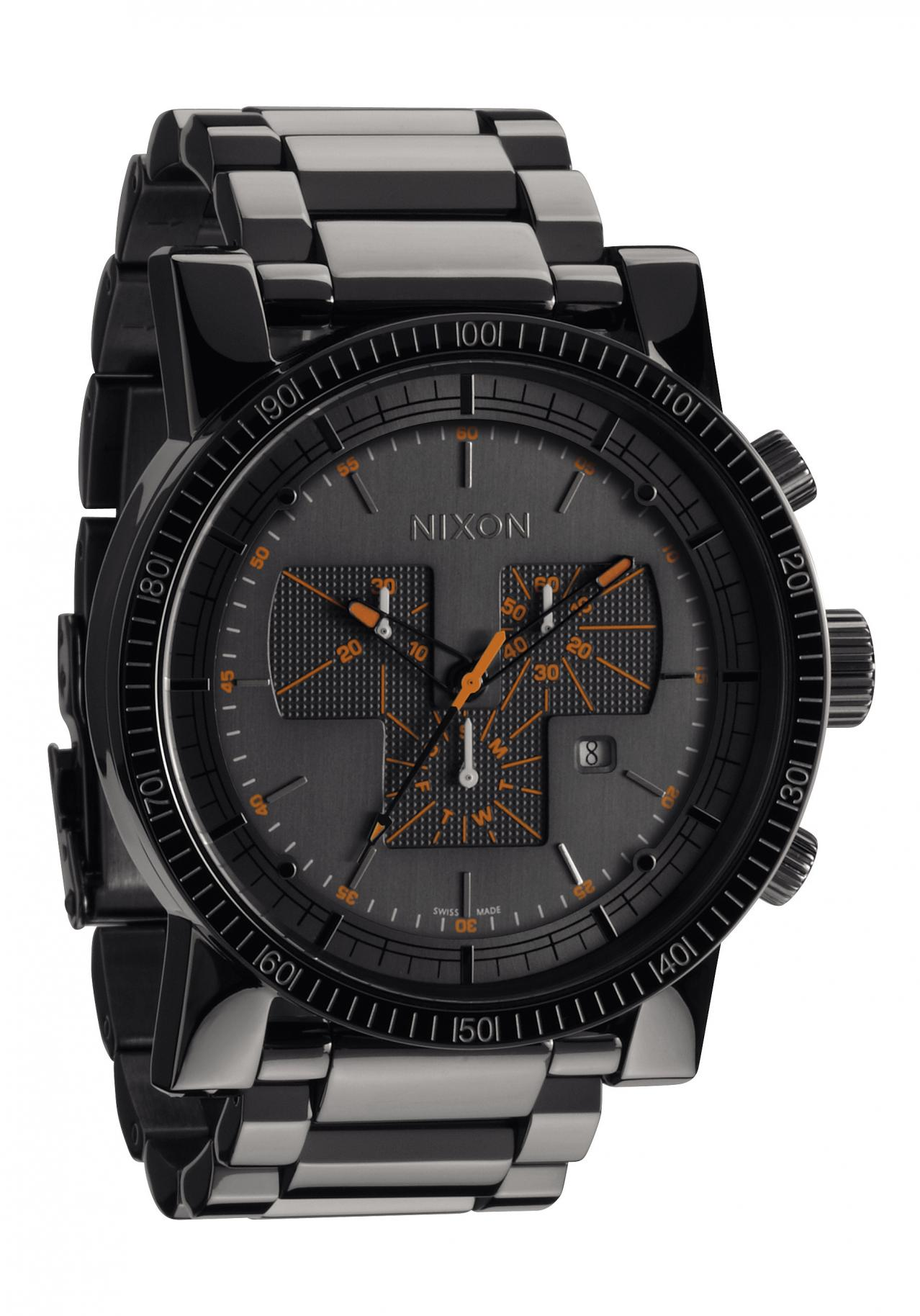 nixon the magnacon ss steel gray men s chronograph nur. Black Bedroom Furniture Sets. Home Design Ideas
