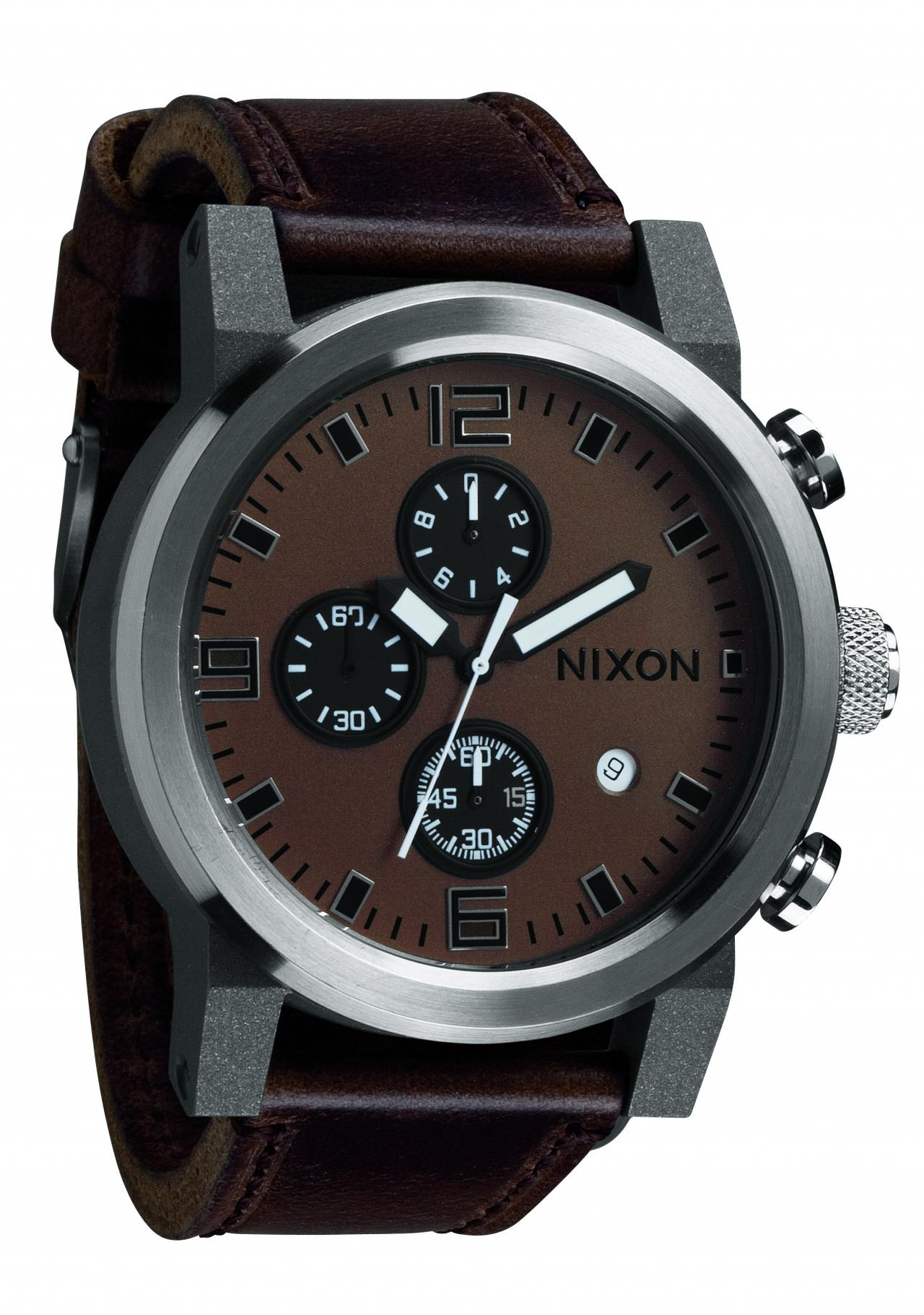 nixon the ride brown black men s chronograph a315562 nur. Black Bedroom Furniture Sets. Home Design Ideas