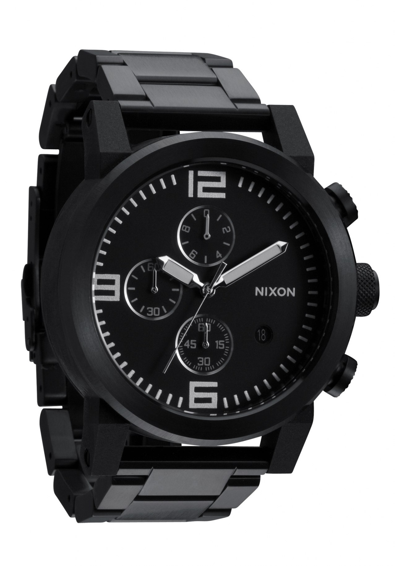 nixon the ride ss all black men s chronograph a347001 nur. Black Bedroom Furniture Sets. Home Design Ideas