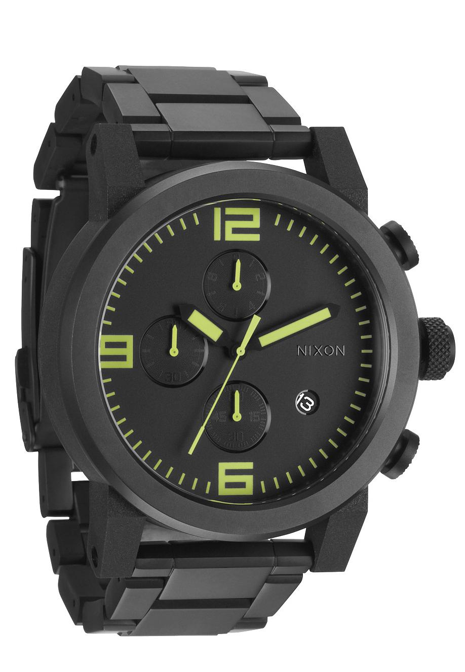 nixon the ride ss all black lum men s chronograph nur. Black Bedroom Furniture Sets. Home Design Ideas