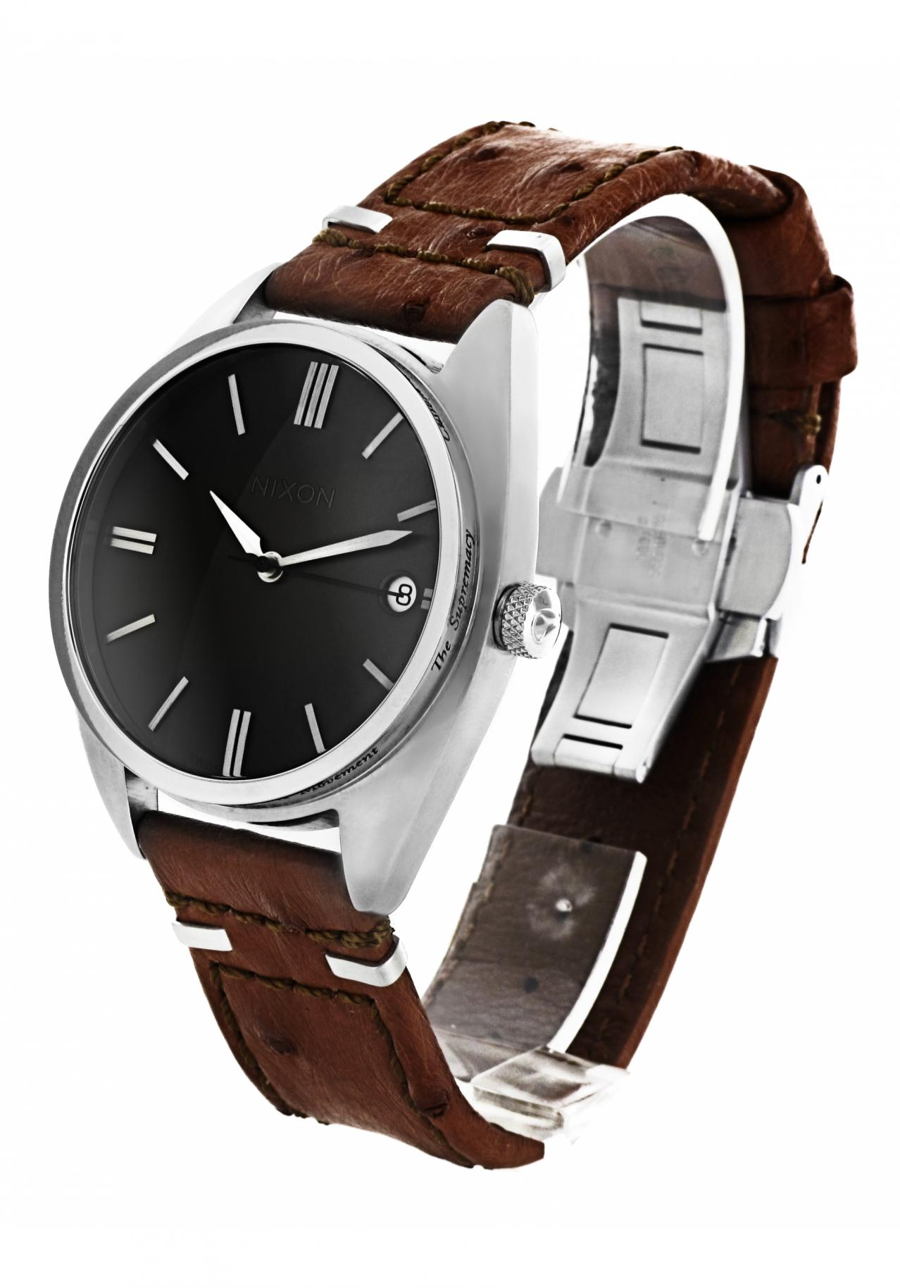 nixon the supremacy brown automatic watch a353400 nur. Black Bedroom Furniture Sets. Home Design Ideas