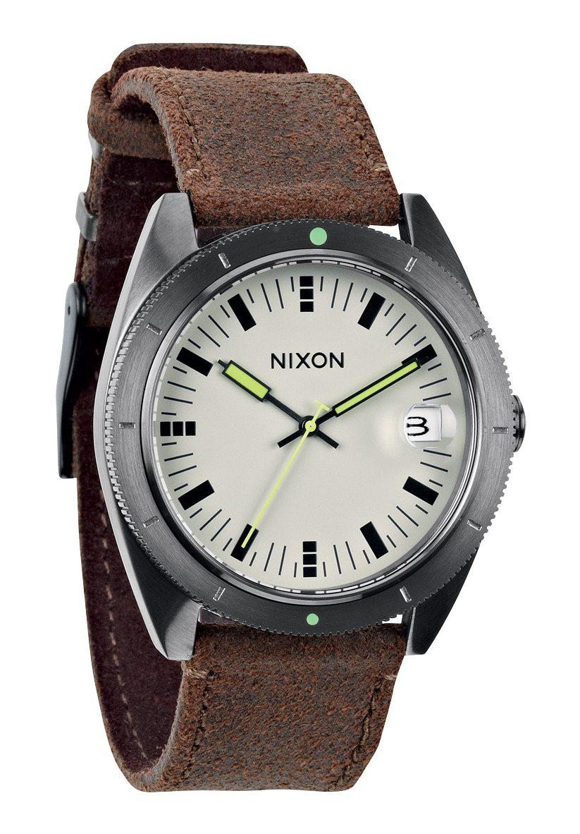 nixon the rover ii gunmetal brown men s watch nur. Black Bedroom Furniture Sets. Home Design Ideas