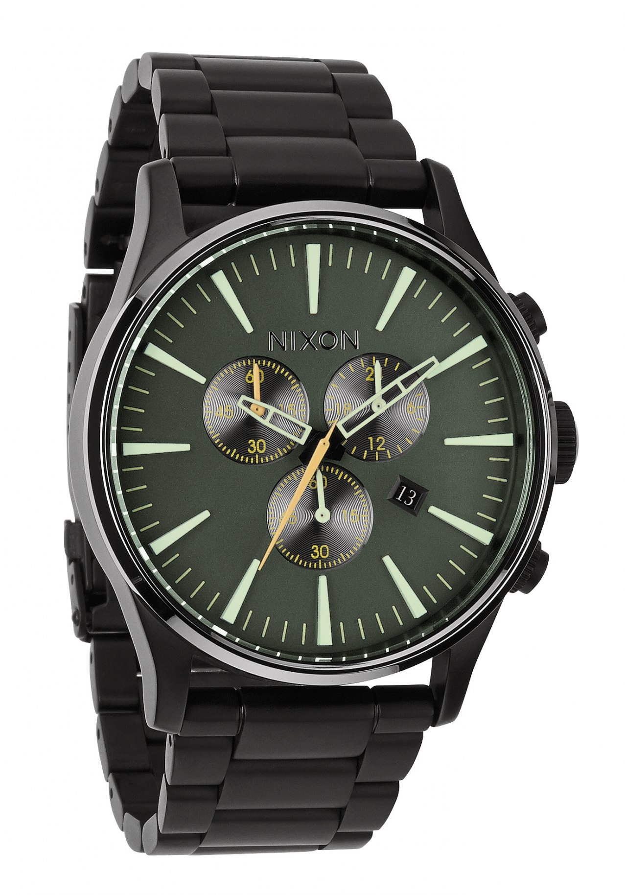 nixon the sentry chrono matte black surplus men s watch nur. Black Bedroom Furniture Sets. Home Design Ideas