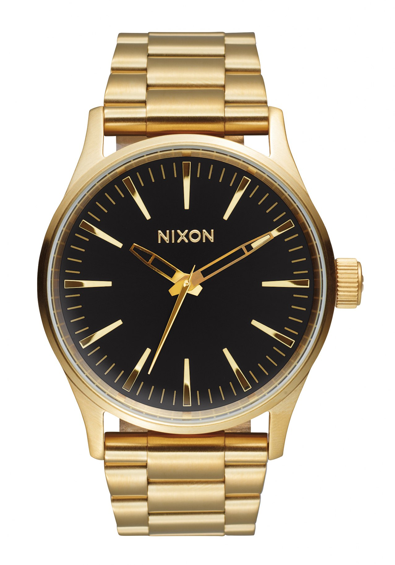 nixon the sentry 38 ss gold black sunray men s watch nur. Black Bedroom Furniture Sets. Home Design Ideas