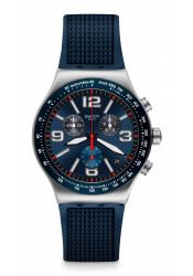 Swatch Blue Grid wrist watch
